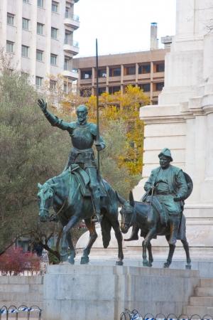 Don Quiote and Sancho Panza Stock Photo