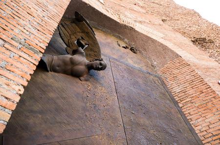 Emboss at church wall Stok Fotoğraf