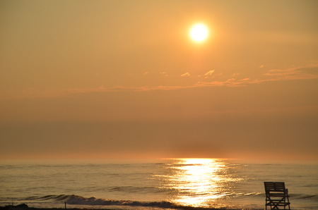 wildwood: Sunrise in Wildwood Stock Photo