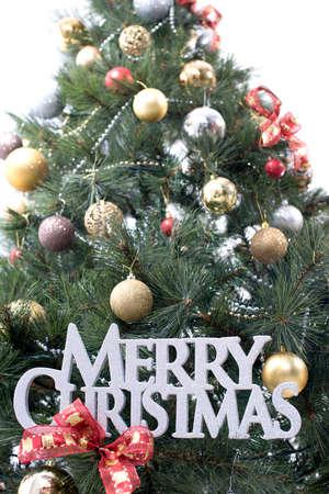 Merry Christmas Decorations On Christmas Tree