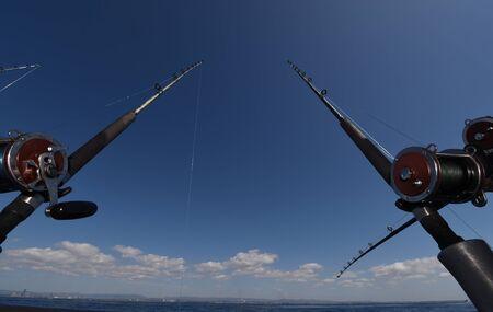 Fishing Rod & Reel on a Charter Boat. 写真素材