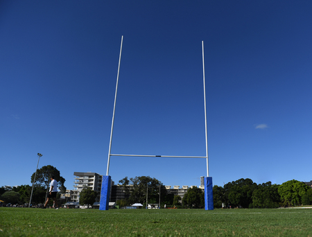 Rugby Goal Posts against blue sky
