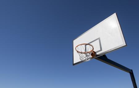 Basketball Hoop with Blue sky