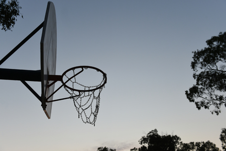 Basketball Hoop and Backboard silhouette Standard-Bild