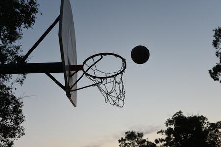 Basketball Hoop, Ball and Backboard silhouette