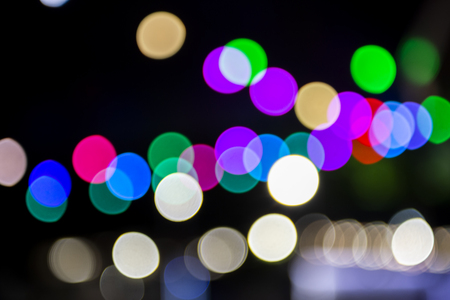 Out of focus colored party lights.