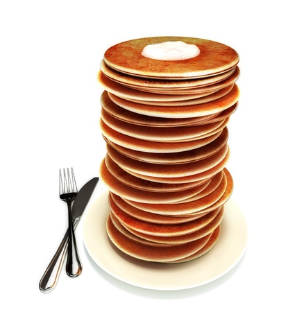 perks: Large stack of pancakes