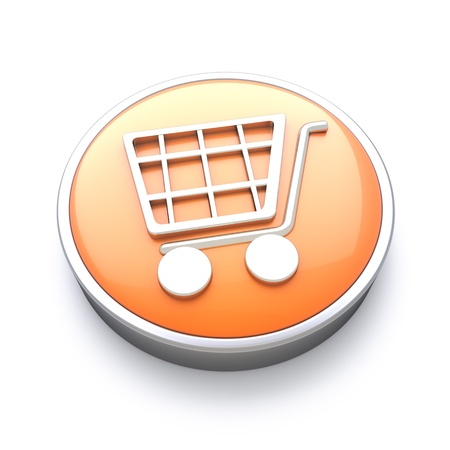 website buttons: Shopping icon , great for E-commerce and online services  Stock Photo