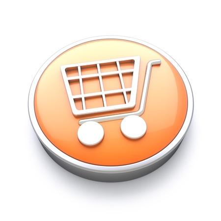 Winkelen pictogram, ideaal voor e-commerce en online-diensten Stockfoto