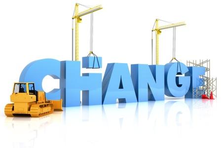 change concept: El cambio de decisiones con resultados constructivos, parte de una serie