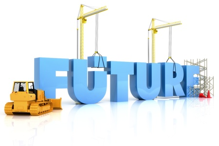 Building your future concept , part of a series
