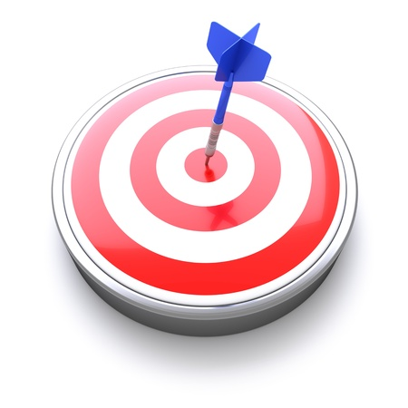 Dart Target Icon with Bull's eye concept, success achievement
