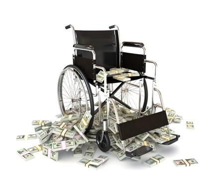 nursing treatment: Los altos costos de atenci�n m�dica, los gastos en el tratamiento, hogares de ancianos, la salud, el seguro etc. concepto Foto de archivo
