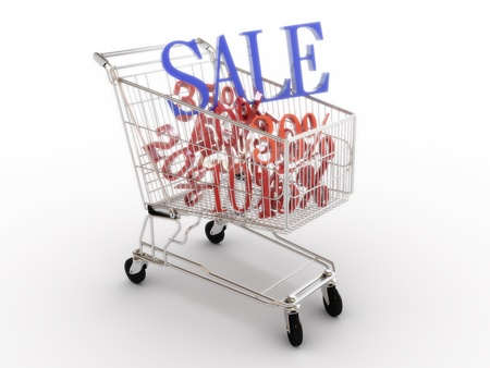 Big sale ,gift bag with gifts, Part of a series Stock Photo - 11083860
