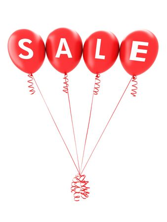 big sale: Red balloons spelling sale