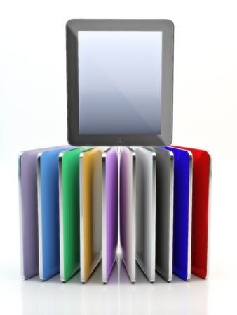 Colorful computer tablet pads on display. Stock Photo - 20163861