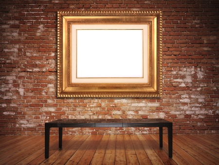 luxuriously: Elegant frame with a rustic background. Frame is blank to insert picture or text.