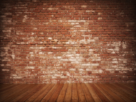 retro styled: Old Styled brick interior Stock Photo