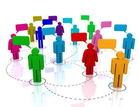 Social Network gathering  Stock Photo