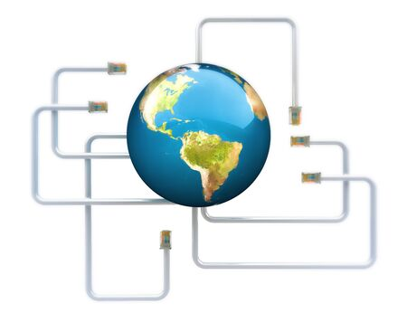 Worldwide networking , texture from www.Nasa.gov photo