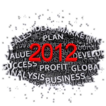 Business plan 2012 Stock Photo - 11783993