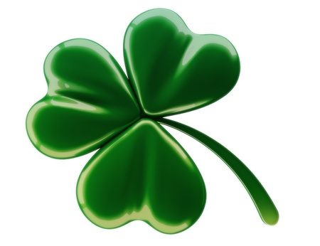 clover leaf shape: Green clover