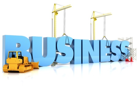 business graphics: Building your Business , BUSINESS word, representing business development