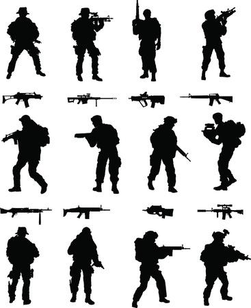 snajper: Operacji Specjalnych Booster Pack, 1 z 2 zbiór elitarnych wojskowych członków w akcji, mieszane broni zawarte Ilustracja
