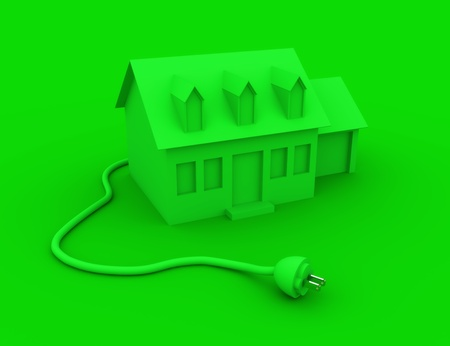 Green Energy Home concept  Stock Photo - 12813094