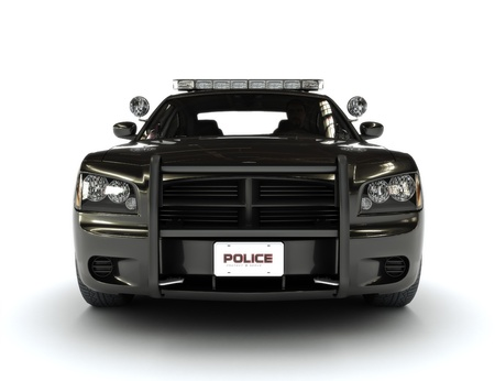 Police car on a whie background photo