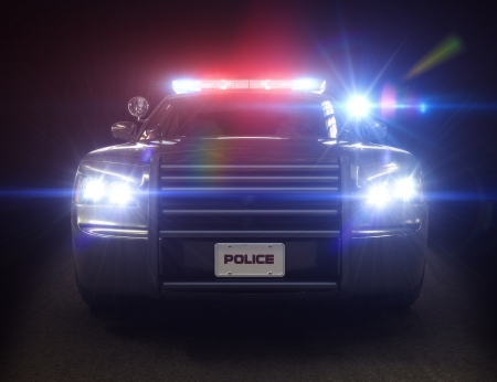 Police car cruiser ,with full array of lights and tactical lights  Part of a first responder series   photo
