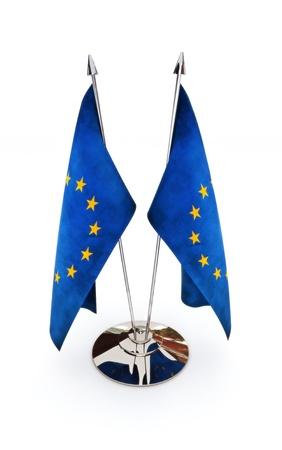 European Union miniature flags isolated on a white background Stock Photo - 14877749