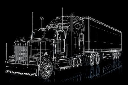 trucking: Truck 3d wireframe