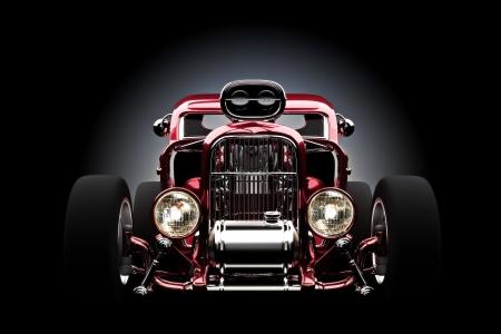 Hotrod mit gradiant Hintergrund, 3D-Modell Standard-Bild - 16173766