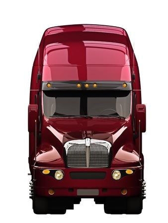camion: Semi cami�n con fondo blanco