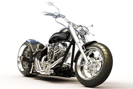 Moto isolé sur fond blanc, modèle 3D Banque d'images - 16173965
