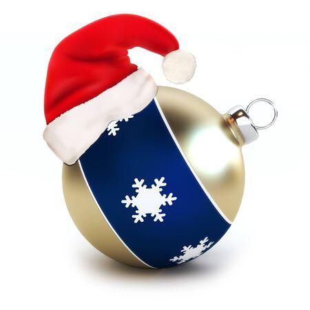 glimpse: Santa hat on a Christmas Ornament  Stock Photo