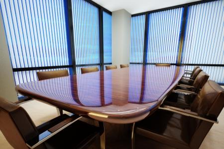 Entreprise salle de conférence de bureau avec table et chaises de cuir Banque d'images - 20163789