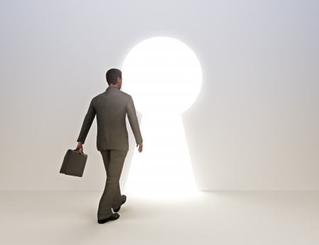 Business male key to success concept Stock Photo - 17724046