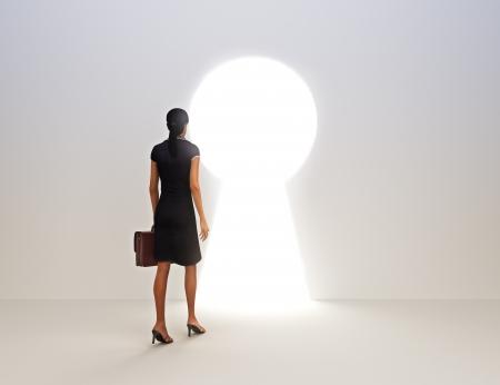 tecla enter: Empresas clave femenina al concepto de éxito