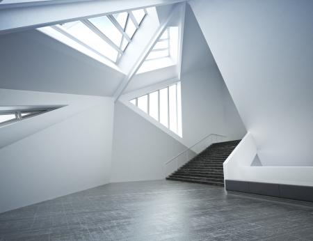 Modern nieuw interieur, lege kamer appartement of kantoor bedrijf