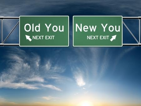 sicurezza sul lavoro: Nuovo, vecchio you Entra s raffigurante una scelta nella vostra vita