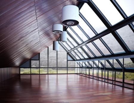 oficina: Local de negocio, comercial o de residencia con el fondo de madera model escena 3d Foto de archivo