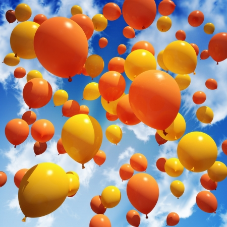 Balloon s released into the sky