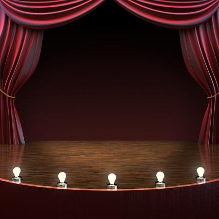 照明付きステージの背景 写真素材