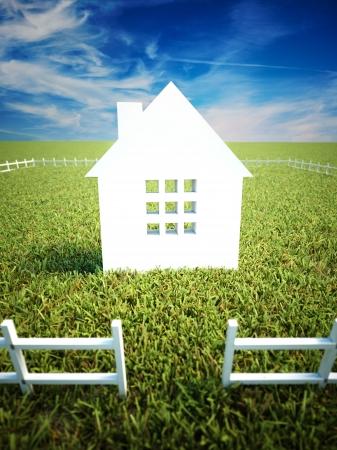 Dream Home: Heim-und Eigentumsordnung Konzept Lizenzfreie Bilder