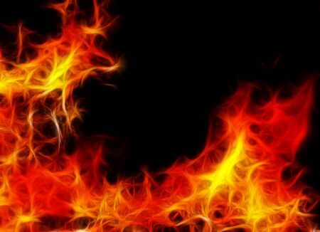 Abstract burning fire background on black Stock Photo - 20940813