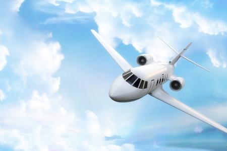 Privaten Business-Jet mit Himmel