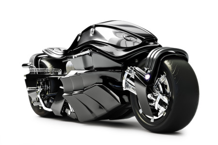 Futuristic custom motorcycle concept on a white background  photo