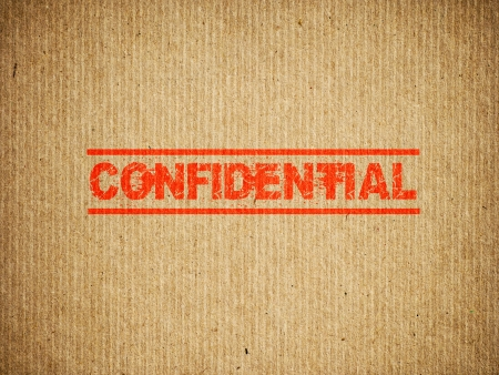 Confidential box photo